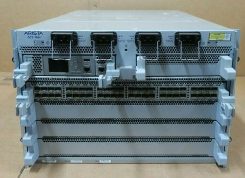 Arista DCS-7504 Switch Chassis With 1x 7500-SUP 1x 7548S-LC 4x PSU 6x Fan Module